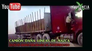 Camión daña milenarias Lineas de Nazca en Perú