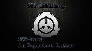 SCP-1020: An Important Letter