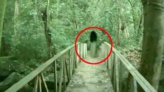 Spooky Ghost On Bridge - Scary Demon Walking Video