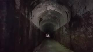 Walking through the Silver Run Haunted Train Tunnel