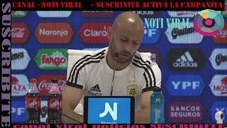 Conferencia de prensa Javier Mascherano