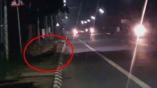 Mysterious Creature Moving On Road Caught On Camera!!