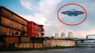 Mysterious Flying UFO With Lights Caught On Tape!! Best UFO Videos!!