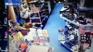 Footage appears to show paranormal activity in antiques shop