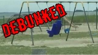 Dad films ghost playing on playground swing in Rhode Island DEBUNKED
