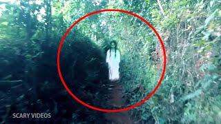 Ghost Standing In An Abandoned Road Caught On CCTV Camera!!
