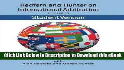 DOWNLOAD Redfern   Hunter on International Arbitration Kindle