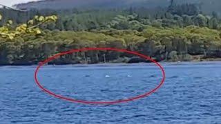 Turista logra grabar en vídeo parte del cuerpo del monstruo del lago Ness