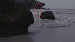 Ghost Caught On Tape | Ghostly Figure Caught On Camera From Thailand | Ghost In Sea
