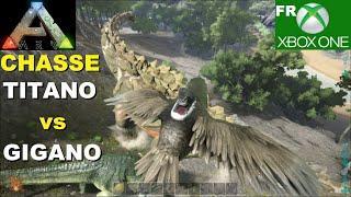 ARK : CHASSE au Titanosaure avec 4 Gigano de la Tribu Jurassic ARK