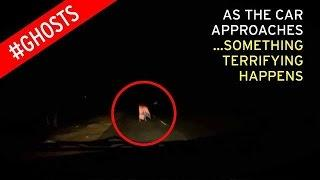 Robed 'ghost' appears on quiet country road in terrifying night time