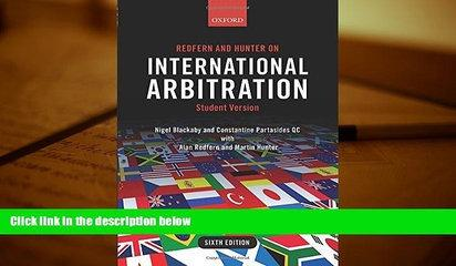 PDF [DOWNLOAD] Redfern and Hunter on International Arbitration TRIAL EBOOK
