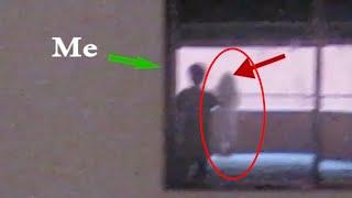 Ghost Shadow Seen In Mirror Caught On Camera!!