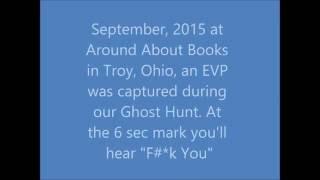 "Around About Books Troy, Ohio EVP ""F*@k You"""