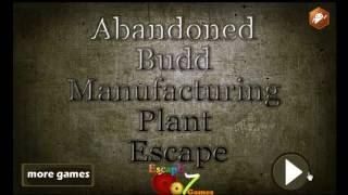 Abandoned Budd Manufacturing Plant Escape Escape 007 Games Walkthrough