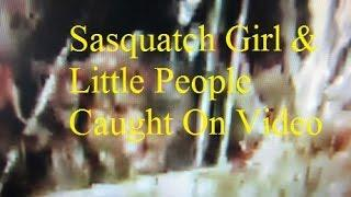 Sasquatch Girl & The Little People Caught On Video! Kids Did  Not Build This Shelter