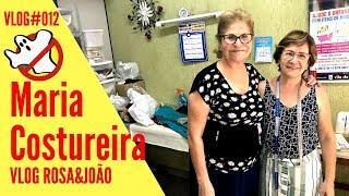 MARIA COSTUREIRA Vlog#012 Rosa&João - Caça Fantasmas Brasil