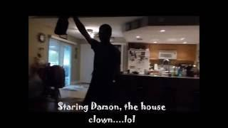 FUNNY VIDEO GETTING KIDS READY FOR SCHOOL--FEATURING THE HOUSE CLOWN...LOL