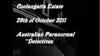 Australian Paranormal Investigators Investigation Coolangatta Estate Sydney Australia