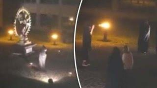 Escalofriante vídeo muestra un sacrificio humano durante un ritual satánico en las instalaciones del