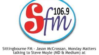 Steve talking to Sittingbourne FM Radio