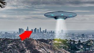 Silver UFO Observed Over Los Angeles, California!! UFO Sightings