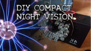 Make a Night Vision Full Spectrum action camera,  compact and easy