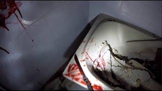 SCARIEST ABANDONED PLACE ALONE!KNIFE FOUND AND BLOOD BATH!