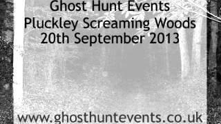 Pluckley Screaming Woods ghost hunt real ghost voice EVP