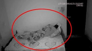 Boy sets up a camera in his bedroom to record paranormal activity | Scary Videos | Ghost CCTV video