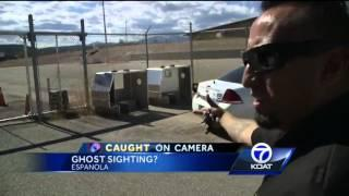 Ghost-like figure shows up on police station video