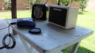 Testing the Spirit Box with a Blackstar and Honeytone Amp