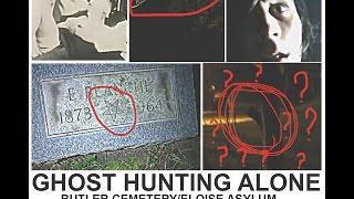 GHOST HUNTING ALONE IN ABANDON INSANE ASYLUM CEMETERY