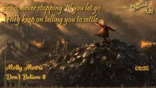 Molly Moore   Dont Believe It Lyrics HD, 720p