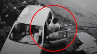 Ghost Pushes Boy In To The Car | Real Ghost Attack Caught on CCTV Camera | Scary Videos