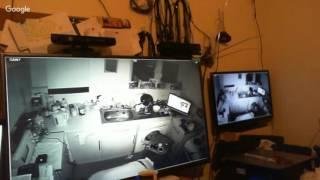Xbox 360 kinect Live in Kitchen .with a HIT from a spirit on screen,
