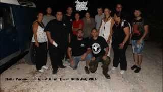 Ghost Hunt Event By Malta Paranormal held 30th July 2014 in abandoned Hotel in Ghadira Bay Malta