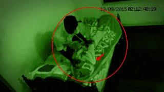 Shocking Paranormal Activity Caught On Night Vision Camera From Men's Hostel | Scary Videos