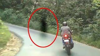 Black Shadow Crossing The Road Caught On Camera!! Ghost Videos 2017