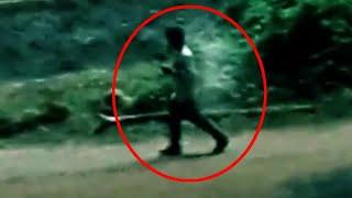 Real Ghost Running Behind A Man Caught On Tape!! Mysterious Ghost!!