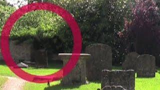 Ghost caught on tape - Lacock England - in creepy old cemetery