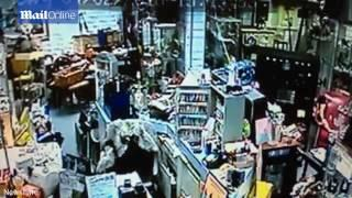 Antiques shop appears to be haunted by a POLTERGEIST as items fly off shelves in mystifying video
