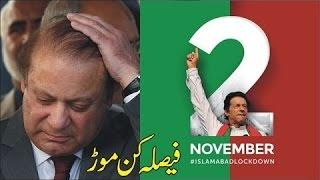 imran khan lockdown islamabad 2 november 2016