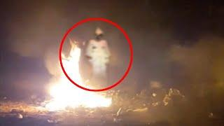 Ghost Coming Out Of Flaming Dead Body Caught On Camera!! True Paranormal Video Footage!!