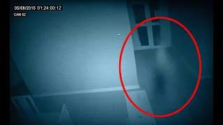 A Blurred Ghostly Figure Caught On CCTV Camera!! Ghost Sightings!!