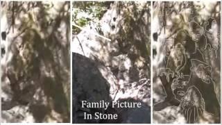 Just Feet From Bigfoot: Family Portrait In Stone At Cave Entrance