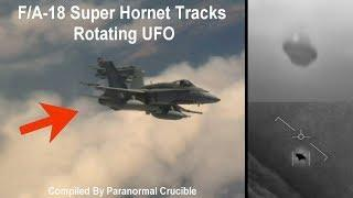 F/A-18 Super Hornet Tracks Rotating UFO