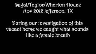 Segal / Taylor / Wharton House Jefferson, TX Nov 2012