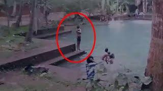Paranormal Activity! Ghost Caught On Tape Near A Pool!!