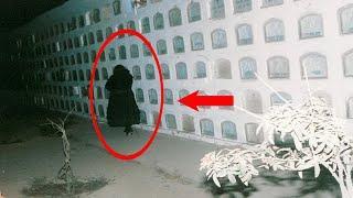5 Espeluznantes Fantasmas de Cementerio Captado en Video